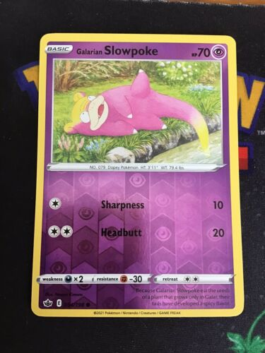 Galarian Slowpoke 054/198 - Reverse Holo Common - Chilling Reign