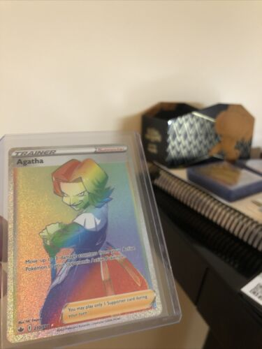 Agatha Rainbow Secret Rare Full Art Pokemon Card Chilling Reign 210/198 Mint PSA