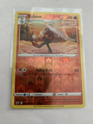 Pokemon Card Chilling Reign Raboot - 027/198 - Uncommon Reverse Holo NM/ Mint