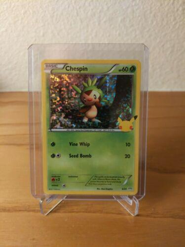 Pokemon McDonald's 25th Anniversary Chespin 6/25 Holo Promo Card 2021 Hologram