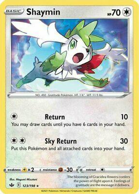 4x Shaymin - 123/198 - Holo Rare NM-Mint Pokemon SWSH6 - Chilling Reign