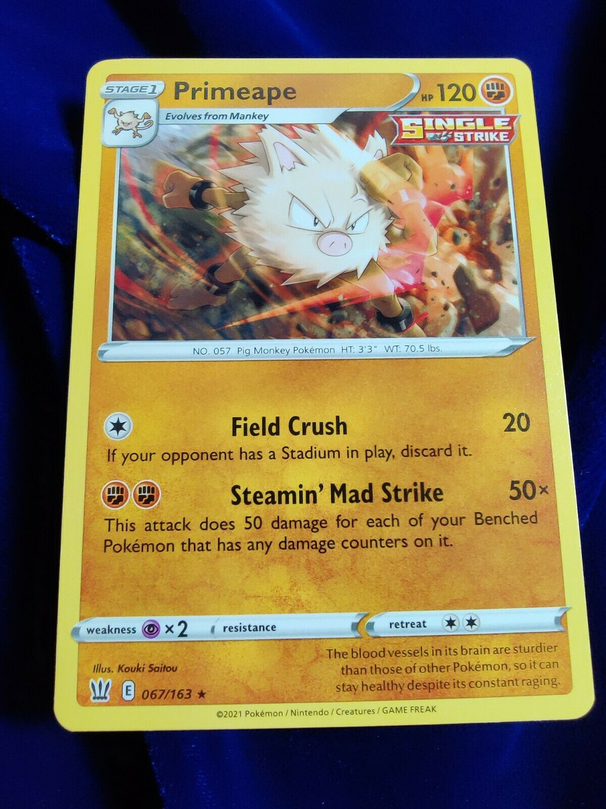Primeape | MINT | Battle Styles 067/163 | Rare | Pokemon