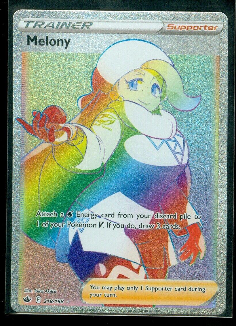 Pokemon MELONY 218/198 Chilling Reign HYPER RARE FULL ART - MINT