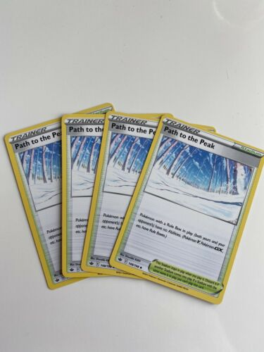 Pokemon Cards Path To The Peak Chilling Reign 148/198 4 Card Playset Near Mint