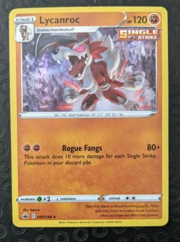 Lycanroc - Pokemon SWSH Chilling Reign - Holo Rare - 087/198