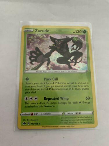 Pokemon Card Chilling Reign Zarude - 019/198 - Rare Holo NM/ M