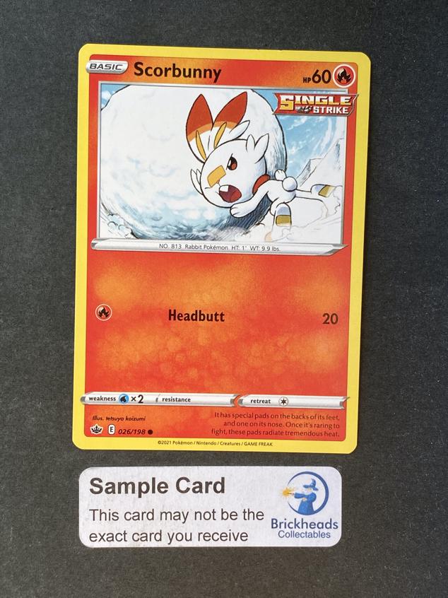 Scorbunny 026/198 Common | SWSH: Chilling Reign | Pokemon Card