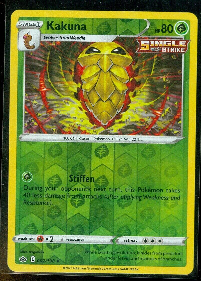 Pokemon KAKUNA 002/198 Chilling Reign - Rev Holo - - MINT
