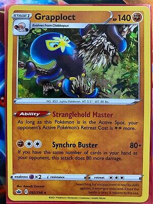 Pokemon Card    GRAPPLOCT   Holo Rare  092/198   CHILLING REIGN  *MINT*
