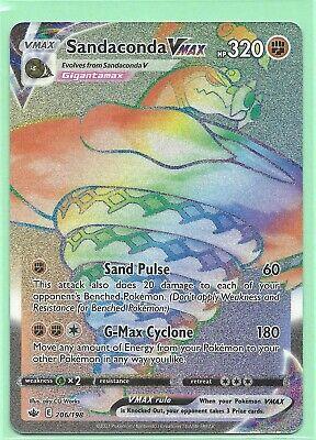 SANDACONDA VMAX 206/198-CHILLING REIGN POKEMON CARD RAINBOW SECRET RARE- MINT