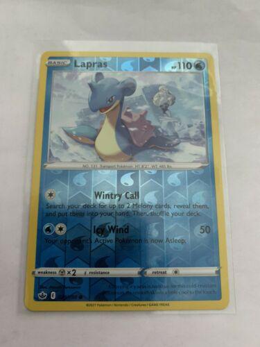 Pokemon Card Chilling Reign Lapras - 029/198 - Common Reverse Holo NM/ Mint