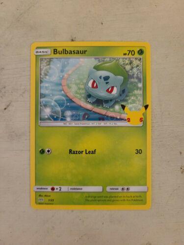 Pokemon Card McDonald's Promo Non-Holo Bulbasaur 1/25