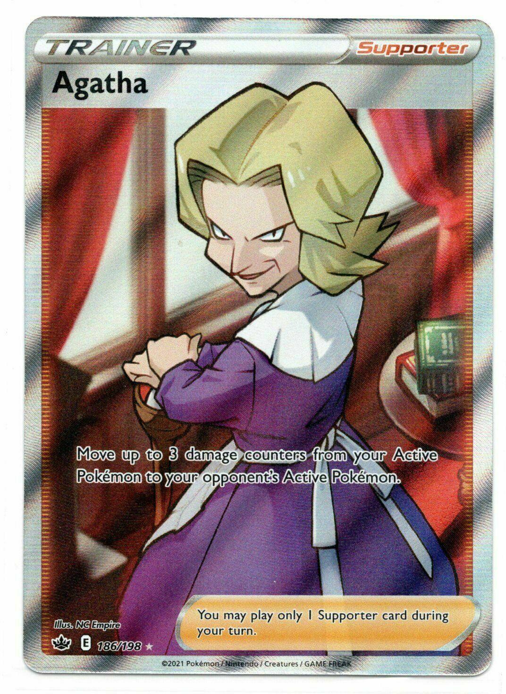 Pokemon  -   Agatha 186/198 - Full Art - Chilling Reign  - NM/M