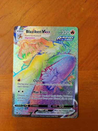 Pokemon Rainbow Blaziken VMAX (200/198) - Chilling Reign