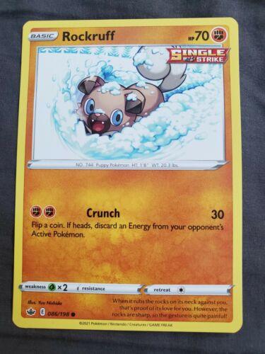 Rockruff 086/198 NM|M- Chilling Reign Pokemon