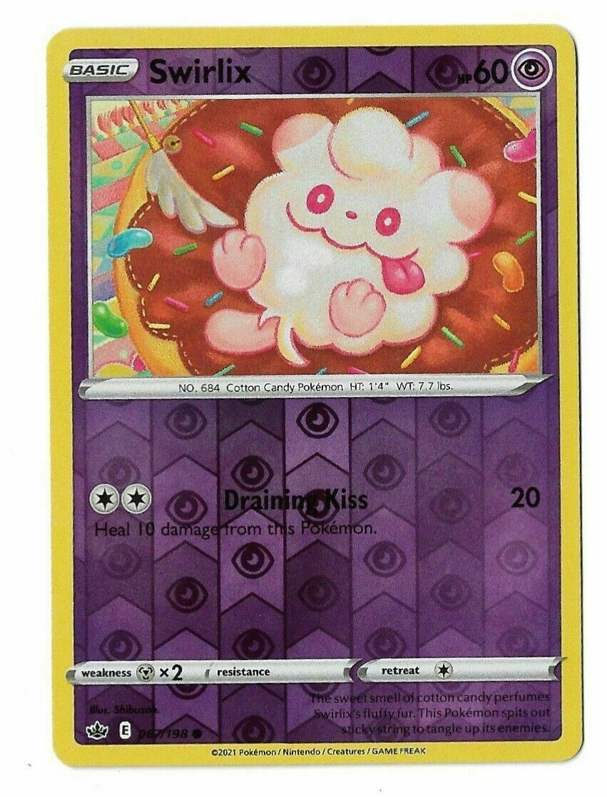 Pokemon - SWIRLIX 067/198  - Reverse Holo - Chilling Reign - NM/M