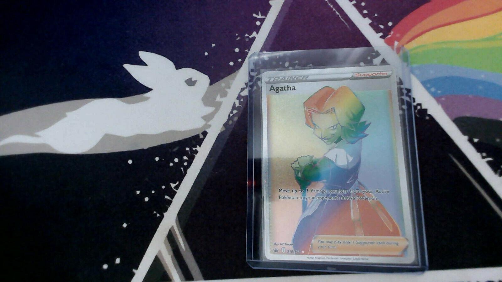 Chilling Reign NM| FA | Fresh Rainbow Agatha| SECRET RARE | Pokemon | 210/198