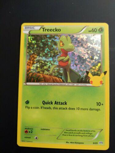 Treecko - 3/25 - 25th Anniversary Set McDonald's Holo Promo - Pokemon TCG - NM
