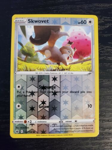 Skwovet 127/198 Chilling Reign Reverse Holo Pokemon Card NM