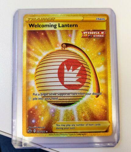 Welcoming Lantern Secret Rare Gold Card NM/MT - Chilling Reign 230/198 Pokemon