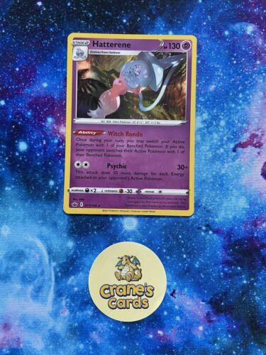 Hatterene Holo Rare 073/198 SWSH Chilling Reign Mint Pokemon Card