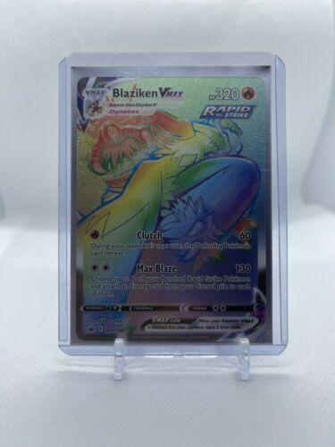 Pokemon Blaziken VMAX 200/198 Secret Rainbow Hyper Rare Chilling Reign