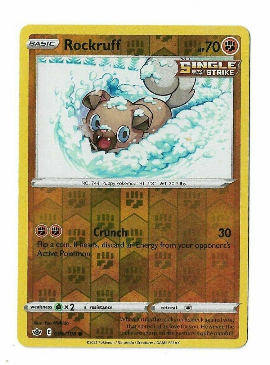 Pokemon - Rockruff 086/198 - Reverse Holo - Chilling Reign - NM/M