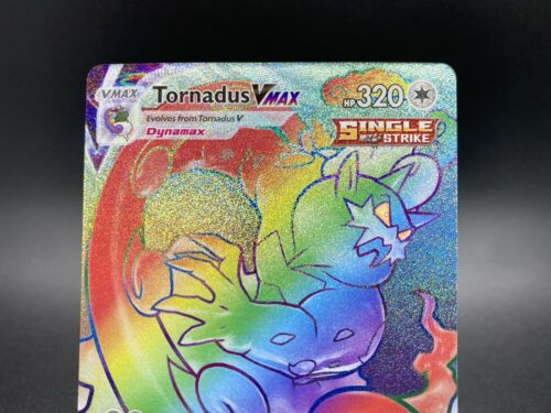 Tornadus VMAX Rainbow Rare 209/198 Pokemon TCG Chilling Reign Near Mint Fresh - Image 2