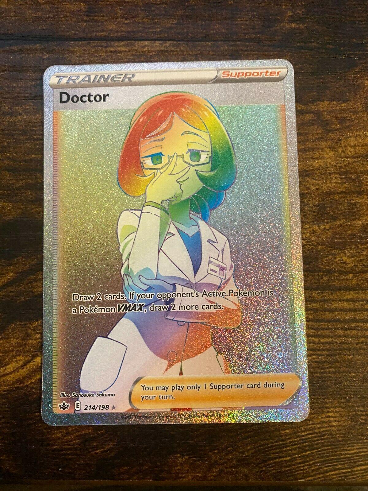 Doctor 214/198 Secret Rainbow Rare Pokémon Chilling Reign full art- NM