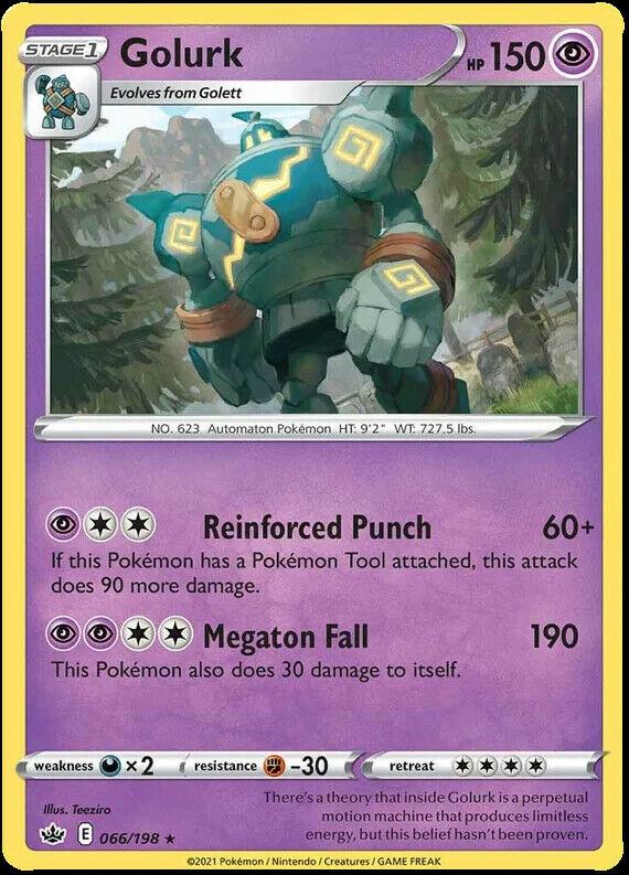 Golurk 066/198 SWSH Chilling Reign Pokemon Card MINT