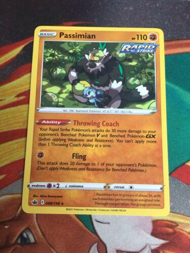 Chilling Reign - Passimian - 088/198 - RARE Card - POKEMON TCG NM