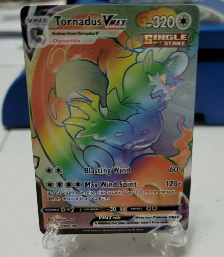 Pokemon TCG Tornadus VMAX Secret Rainbow Rare 209/198 Chilling Reign
