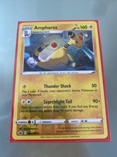 049/198 Ampharos | Reverse Rare Card | Chilling Reign | Lightning | Pokemon TCG