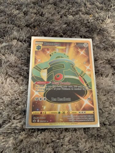 Bronzong Shiny GOLD Secrete Rare 223/198 - Pokemon Chilling Reign NM/M!