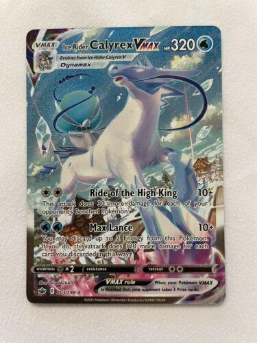 Pokemon Ice Rider Calyrex VMAX 203/198 Alternate Full Art Chilling Reign IN-HAND