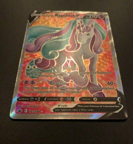Galarian Rapidash V 167/198 Full Art Ultra Rare Pokemon Card Chilling Reign MINT - Image 3