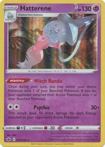 Pokemon Chilling Reign Hatterene Holo Rare 073/198