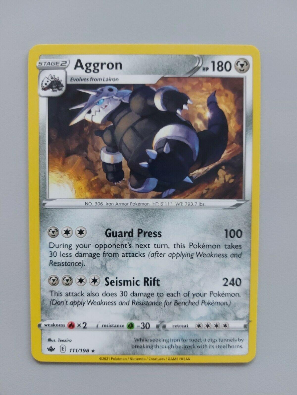 Pokemon TCG Chilling Reign - Aggron 111/198