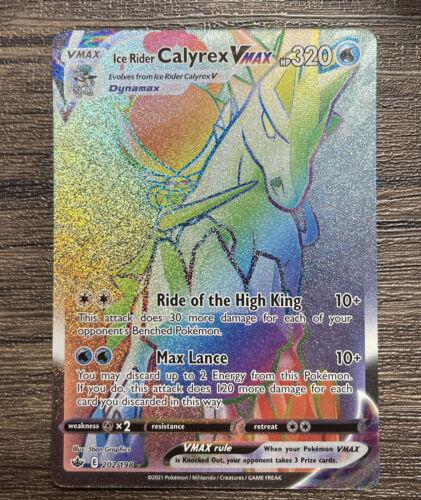Ice Rider Calyrex VMAX - 202/198 - Secret Rare Pokemon - Chilling Reign - NM/M