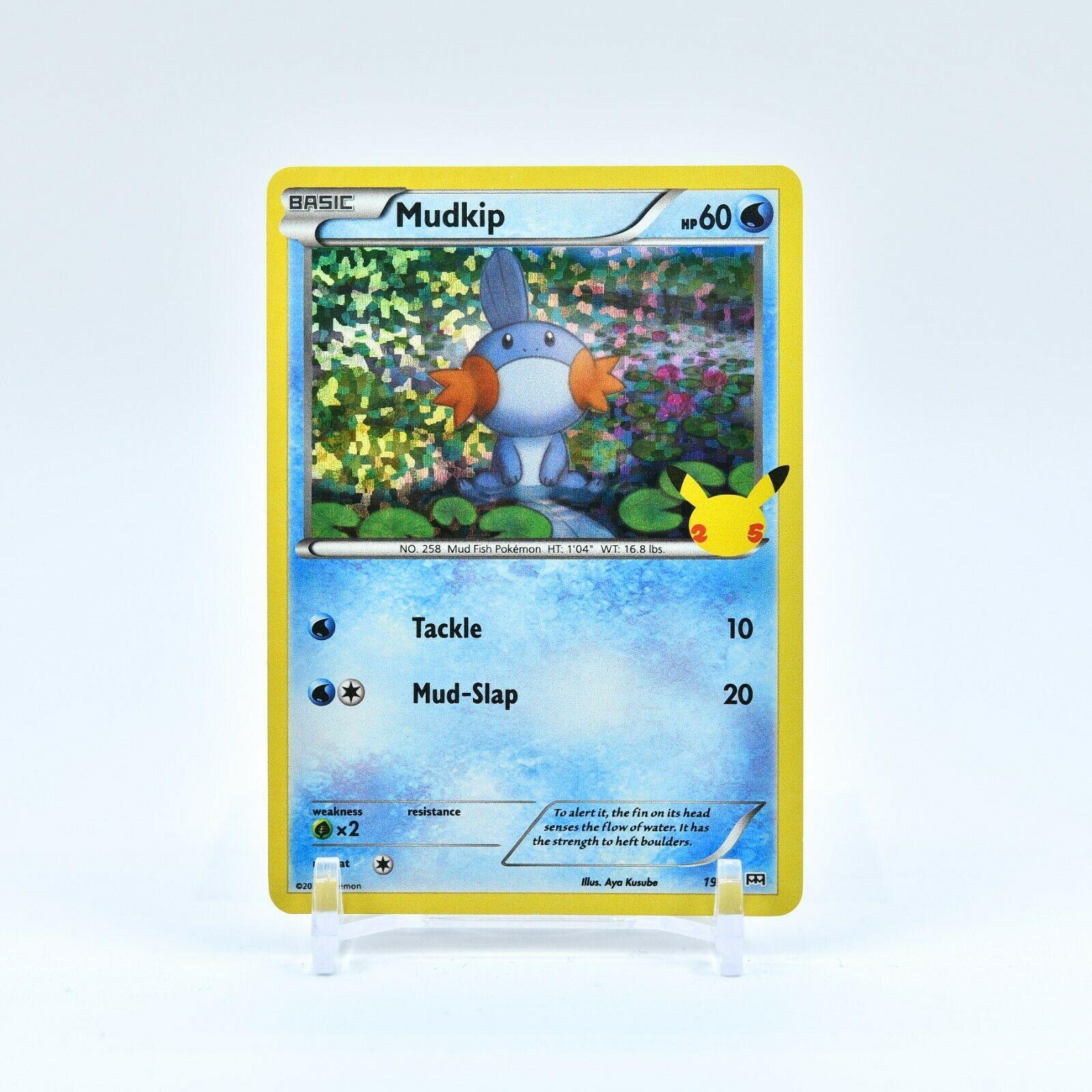 Mudkip - 19/25 Mcdonald's 25th Anniversary Holo Starter Pokemon - NM/MINT