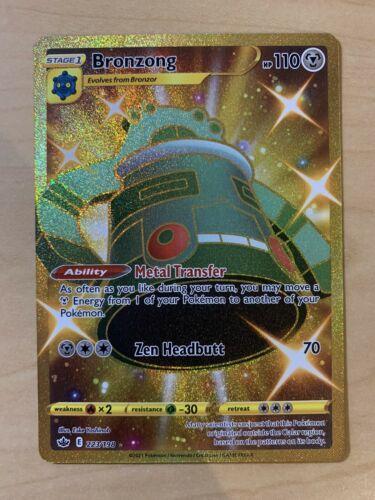 Pokémon TCG Gold Bronzong Full Art 223/198 Secret Rare Chilling Reign Near Mint