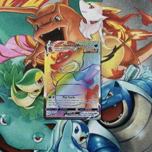 Galarian Slowking VMax 207/198 Chilling Reign Secret Rainbow Rare Pokemon TCG