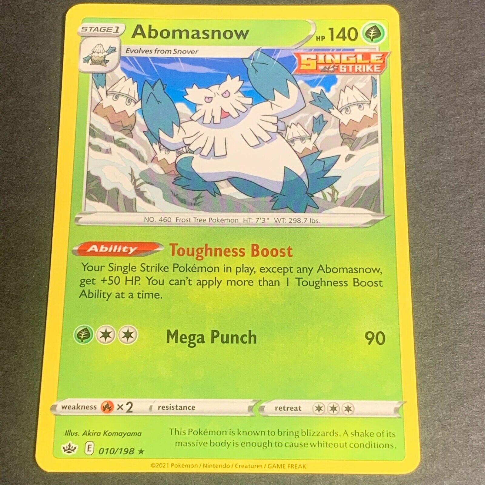 Pokemon S&S Chilling Reign Set RARE Abomasnow 010/198 - Near Mint (NM) Condition