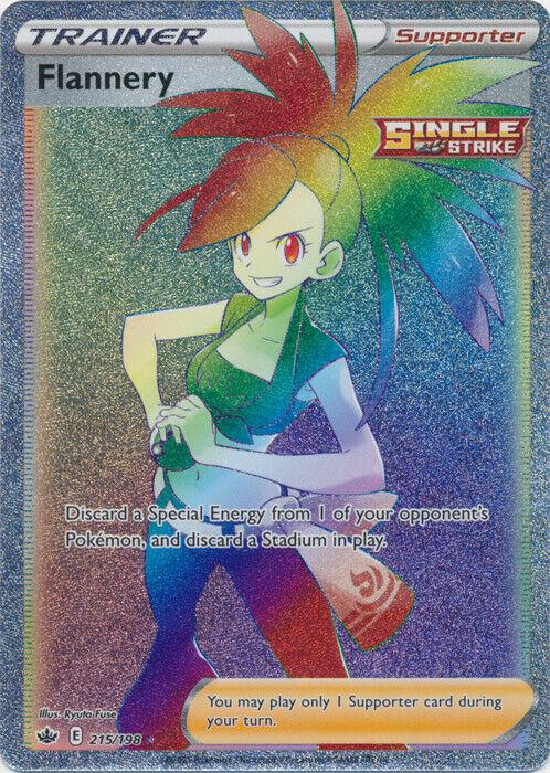 Pokemon Flannery 215/198 Full Art Secret Rare Chilling Reign - NM