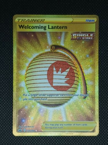 Welcoming Lantern Chilling Reign Gold Rare 230/198 Near Mint Condition