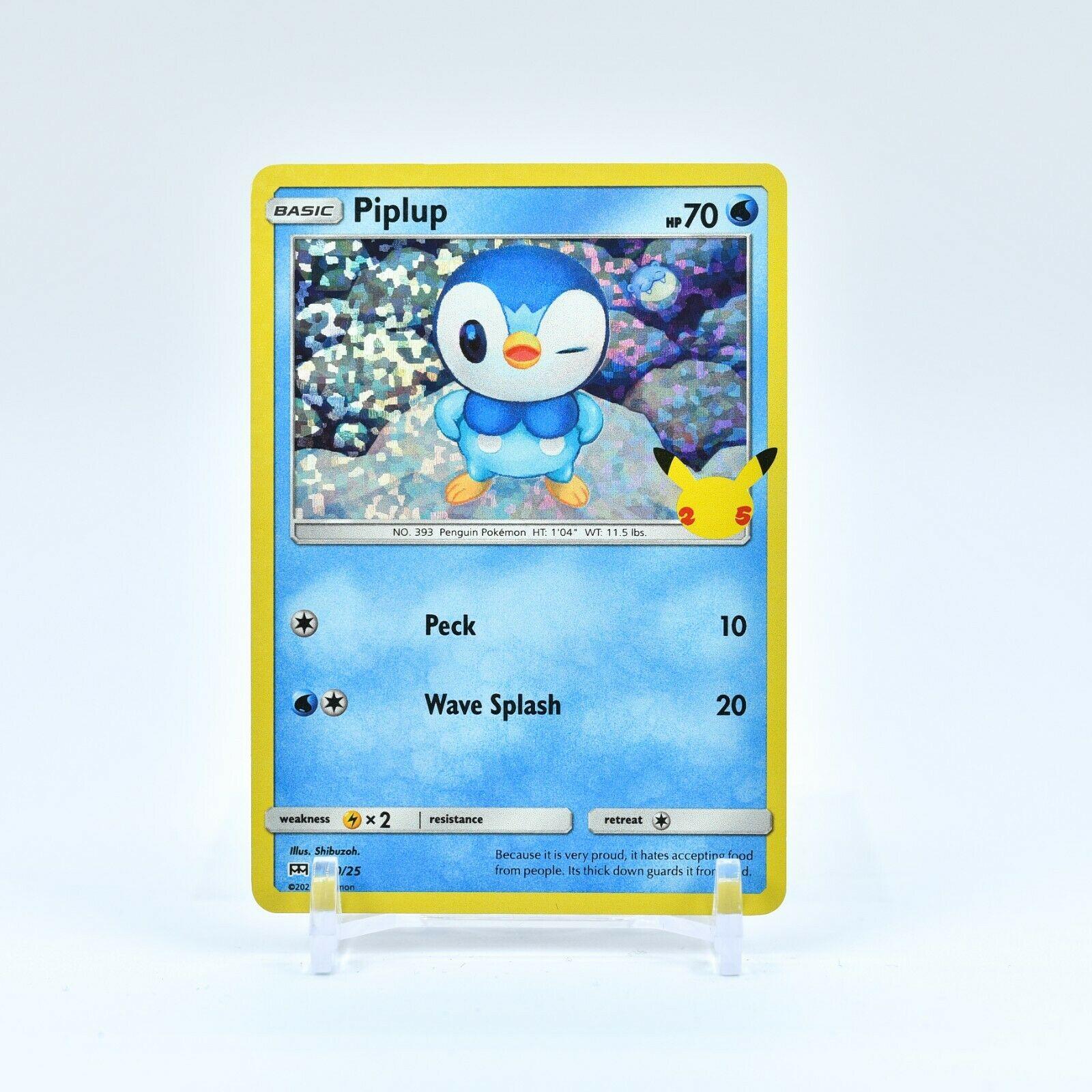 Piplup - 20/25 Mcdonald's 25th Anniversary Holo Starter Pokemon - NM/MINT
