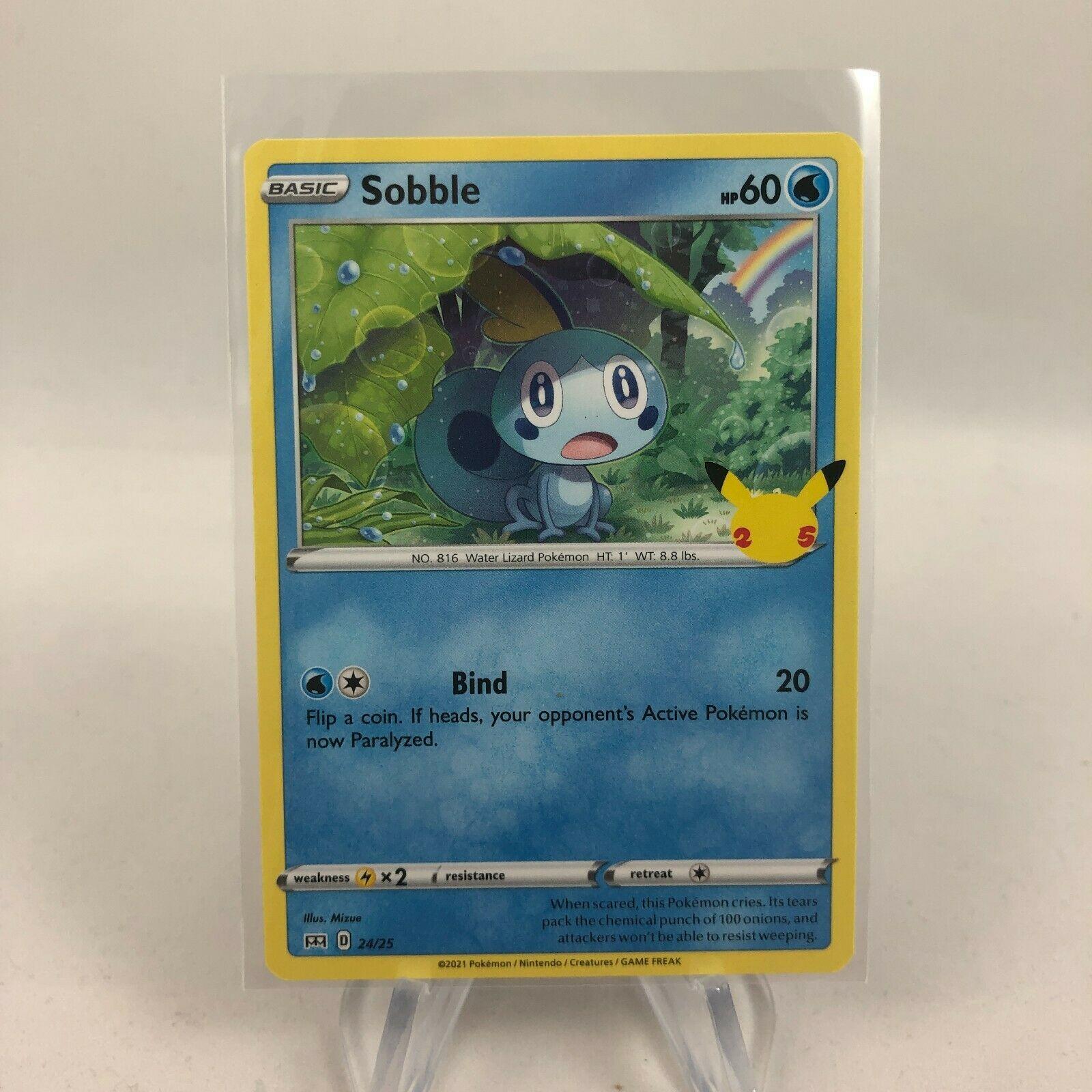 Pokemon Sobble 24/25 NON HOLO McDonald's 2021 Promo 25th Anniversary TCG