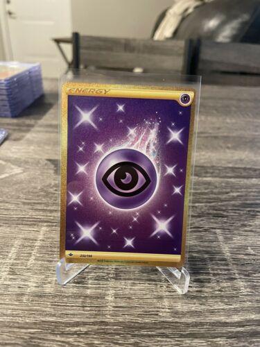 Pokemon TCG - Chilling Reign - Gold Foil Secret Rare 232/198 - Psychic Energy