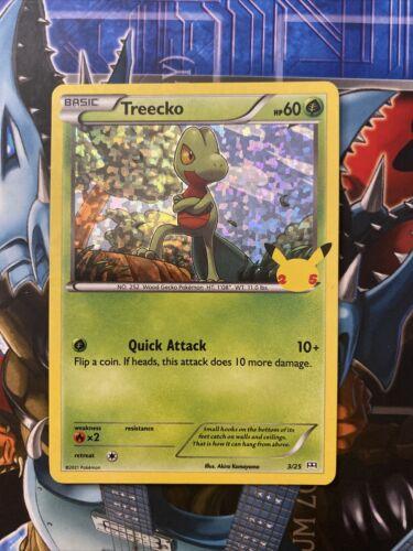 2021 Pokémon 25th Anniversary McDonald's Treecko 3/25 Holo