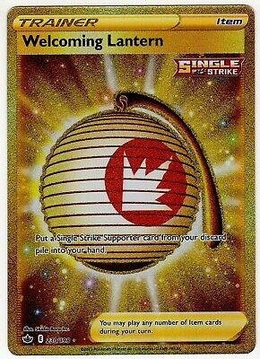 WELCOMING LANTERN SECRET RARE GOLD CHILLING REIGN 230/198 POKEMON CARD NM/M